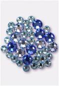 Strass 2088 5 mm / 7 mm mélange bleu x36