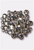 Strass 2028 3 mm / 5 mm / 7 mm black diamond F x42