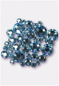 Strass HOTFIX 2028 3 mm / 5 mm / 7 mm aquamarine M HF x42