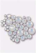 Strass HOTFIX 2078 3 mm / 5 mm / 7 mm white opal M HF x42
