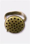 Bague réglable à grille 31 trous 17 mm bronze x50