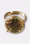 Bague réglable à grille 31 trous 17 mm or x50