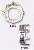 Sertissure pour cabochon carré 12 mm argent x1