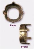 Sertissure pour cabochon carré 12 mm bronze x1