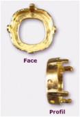Sertissure pour cabochon carré 12 mm or x1