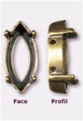 Sertissure pour navette 15x7 mm bronze x1