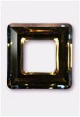 Carré évidé 4439 14 mm crystal tabac x1