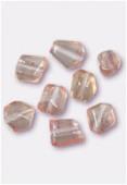 Diamant formes mix + ou - 10 mm saumon x8