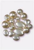 Perle nacrée mélange 8 formes perle x16