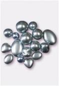 Perle nacrée mélange 8 formes ciel x16