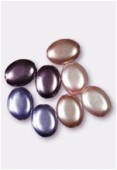 Palet ovale nacré 12x9 mm mélange améthyste x8