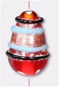 Perle en verre goutte VG15 rouge x2