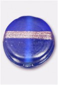 Perle en verre palet VP22 bleu foncé mat x4