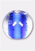 Perle en verre ronde VH22 bleu x6