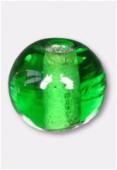 Perle en verre ronde VH vert x24