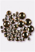 Strass HOTFIX 2028 3 mm / 5 mm / 7 mm crystal golden shadow M HF x42