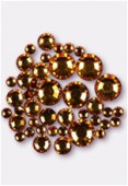 Strass 2028 3 mm / 5 mm / 7 mm topaz F x42
