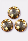 Strass 2058 SS34 7 mm crystal golden shadow F x12