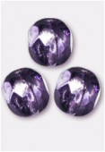 Facette 6 mm violet metallic ice x24