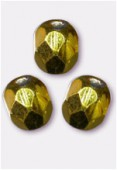Facette 4 mm citron metallic ice x50