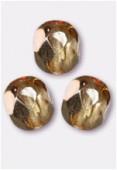 Facette 4 mm abricot metallic ice x50