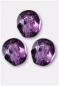 Facette 4 mm genuine stone purple x50