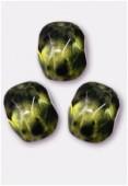 Facette 4 mm genuine stone light olive x50