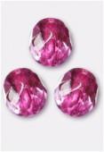 Facette 10 mm purple rose metallic ice x6