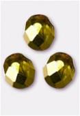 Facette 8 mm citron metallic ice x12