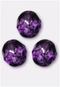Facette 10 mm genuine stone purple x6