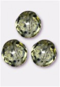 Facette 8 mm genuine stone light olive x12
