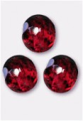 Facette 10 mm genuine stone red x6