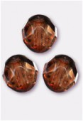 Facette 8 mm genuine stone brown x12