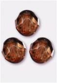 Facette 10 mm genuine stone brown x6
