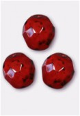Facette 10 mm genuine stone garnet x6