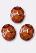 Facette 10 mm brown genuine stone x6