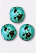 Facette 10 mm blue turquoise x6