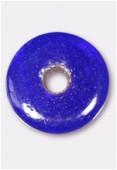 Perle en verre palet VP2 bleu foncé x1
