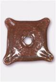 Perle en verre palet VP5 marron rouge x1