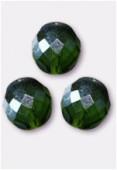Facette 12 mm olivine AB x2