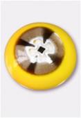 Perle en verre cabochon MUR6 jaune x2