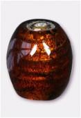Perle en verre olive VFO4 marron x2