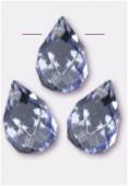 Goutte à facettes 6x9 mm purple blue x6