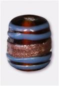 Perle en verre tube VTM23 marron x4