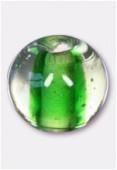 Perle en verre ronde VH22 vert x6