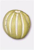 Perle en terre cuite ronde T33 mastic x2