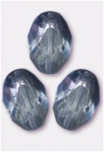 Olive à facettes 8x6 mm lumi blue x12