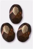 Olive à facettes 8x6 mm lumi brown x12