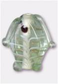 Perle en verre poisson VP34 vert clair x2