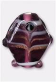 Perle en verre poisson VP34 améthyste x2